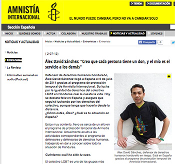 Amnistia Internacional-Alex Sanchez