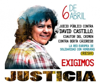 Red Europea de Solidaridad con Honduras:Hay pruebas contundentes que señalan que Castillo es coautor del asesinato de Berta Cáceres